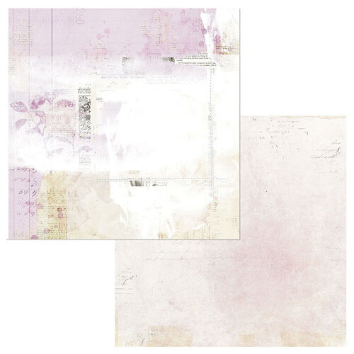 49 and Market - Vintage Artistry Lilac Collection - 12 x 12 Double Sided Paper - Tranquil