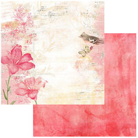 49 and Market - Vintage Artistry Blush Collection - 12 x 12 Double Sided Paper - Poised