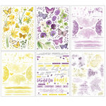 49 and Market - Vintage Artistry Butter Collection - Rub-On Transfers