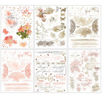 49 and Market - Vintage Artistry Coral Collection - Rub-On Transfers