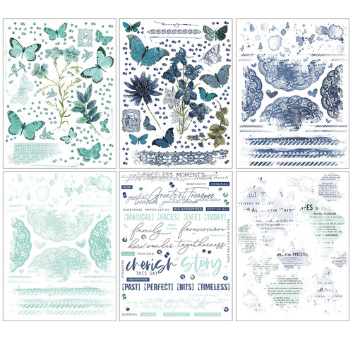 49 and Market - Vintage Artistry Sky Collection - Rub-On Transfers