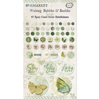 49 and Market - Vintage Artistry Sage Collection - Wishing Bubbles and Baubles