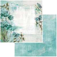 49 and Market - Vintage Artistry In Teal Collection - 12 x 12 Double Sided Paper - Bloom