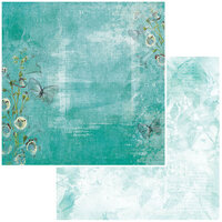 49 and Market - Vintage Artistry In Teal Collection - 12 x 12 Double Sided Paper - Flutter