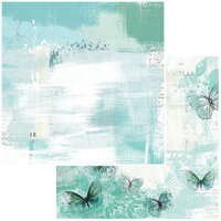 49 and Market - Vintage Artistry In Teal Collection - 12 x 12 Double Sided Paper - Breeze