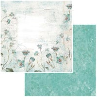 49 and Market - Vintage Artistry In Teal Collection - 12 x 12 Double Sided Paper - Whisper
