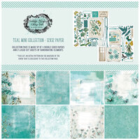 49 and Market - Vintage Artistry In Teal Collection - 12 x 12 Collection Pack