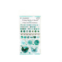 49 and Market - Vintage Artistry In Teal Collection - Wishing Bubbles and Baubles