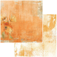 49 and Market - Vintage Artistry In Mango Collection - 12 x 12 Double Sided Paper - Tangelo Mellow
