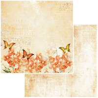 49 and Market - Vintage Artistry In Mango Collection - 12 x 12 Double Sided Paper - Orange Blossom