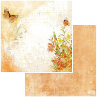 49 and Market - Vintage Artistry In Mango Collection - 12 x 12 Double Sided Paper - Saffron Notes