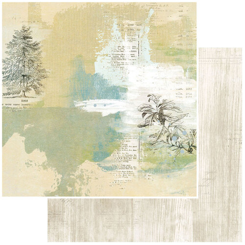49 and Market - Vintage Artistry Everyday Collection - 12 x 12 Double Sided Paper - Solitude