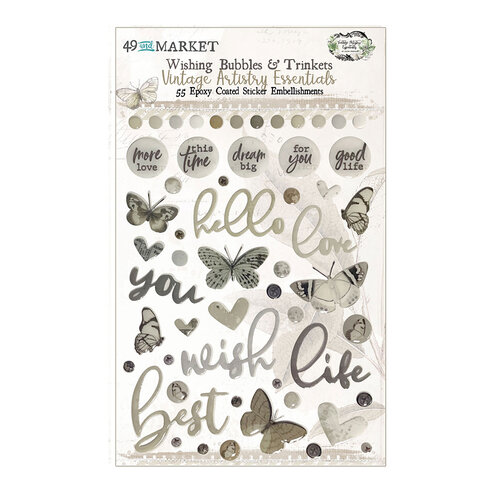 49 and Market - Vintage Artistry Essentials Collection - Wishing Baubles and Trinkets
