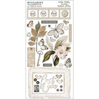 49 and Market - Vintage Artistry Essentials Collection - Chipboard Stickers