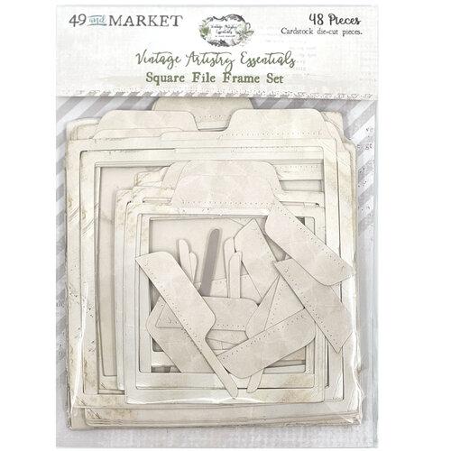 49 and Market - Vintage Artistry Essentials Collection - Square File Frame Set