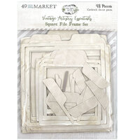 49 and Market - Vintage Artistry Essentials Collection - Square File Frame Set