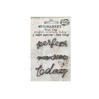 49 and Market - Vintage Artistry Essentials Collection - Word Clips - Dark Greige