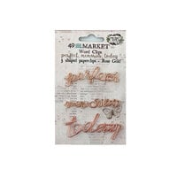 49 and Market - Vintage Artistry Essentials Collection - Word Clips - Rose Gold