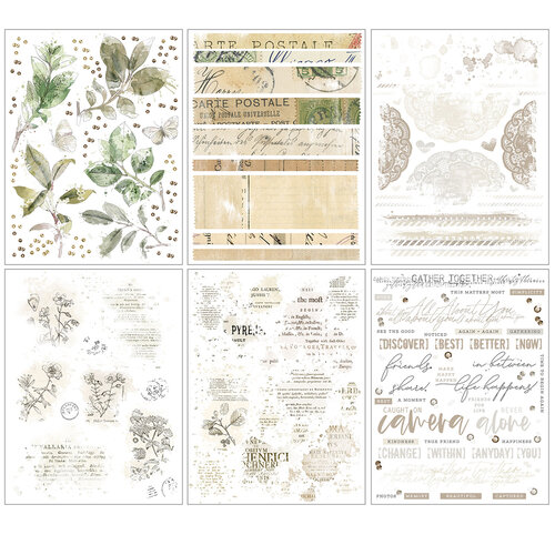 49 and Market - Vintage Artistry Essentials Collection - Rub-On Transfers