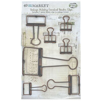 49 and Market - Vintage Artistry Essentials Collection - Binder Clips - Antique Bronze