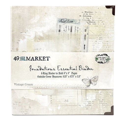 49 and Market - Foundations - 6-Ring Binder - Vintage Cream