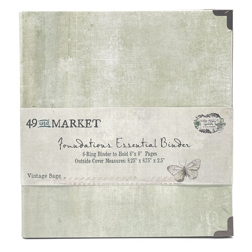 49 and Market - Foundations - 6-Ring Binder - Vintage Sage