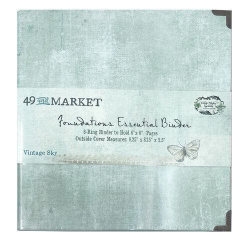 49 and Market - Foundations - 6-Ring Binder - Vintage Sky
