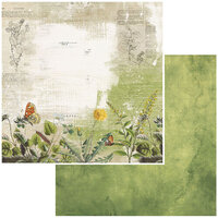 49 and Market - Vintage Artistry In The Leaves Collection - 12 x 12 Double Sided Paper - Meadow