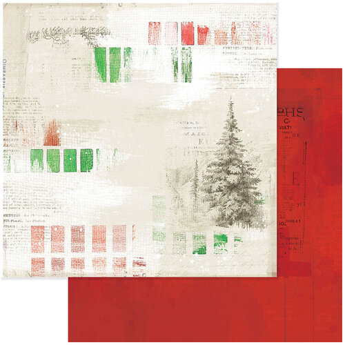 49 and Market - Christmas - Vintage Artistry Noel Collection - 12 x 12 Double Sided Paper - Painted Season