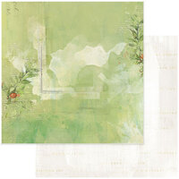 49 and Market - Christmas - Vintage Artistry Noel Collection - 12 x 12 Double Sided Paper - Aquifolium