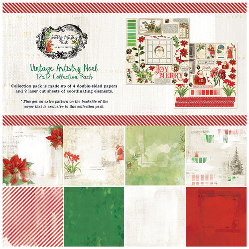 49 and Market - Christmas - Vintage Artistry Noel Collection - 12 x 12 Collection Pack