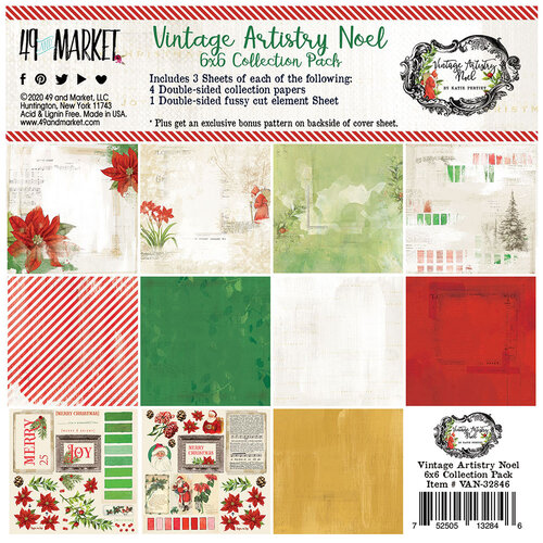 49 and Market - Christmas - Vintage Artistry Noel Collection - 6 x 6 Collection Pack