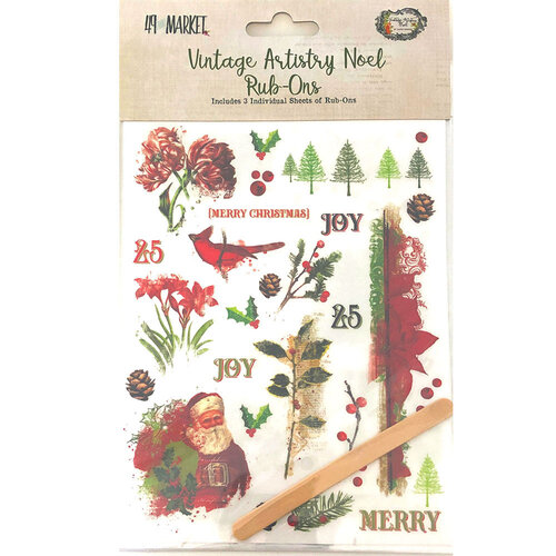49 and Market - Christmas - Vintage Artistry Noel Collection - Rub-Ons