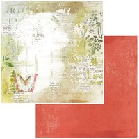 49 and Market - Vintage Artistry Naturalist Collection - 12 x 12 Double Sided Paper - Tattered Wings