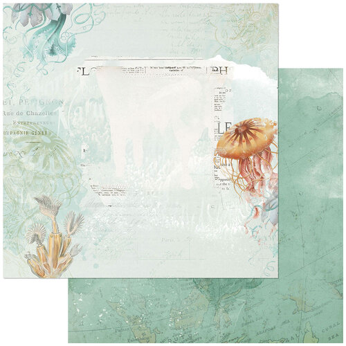 49 and Market - Vintage Artistry Shore Collection - 12 x 12 Double Sided Paper - Barrier Reef