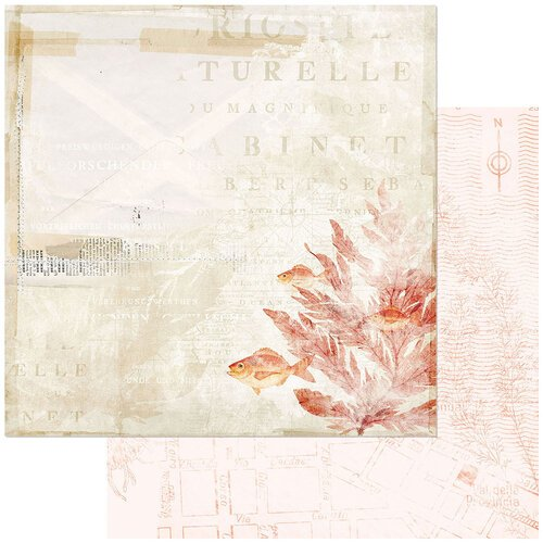 49 and Market - Vintage Artistry Shore Collection - 12 x 12 Double Sided Paper - In the Shallows