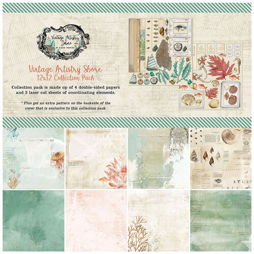 49 and Market - Vintage Artistry Shore Collection - 12 x 12 Collection Pack