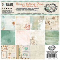 49 and Market - Vintage Artistry Shore Collection - 6 x 6 Collection Pack