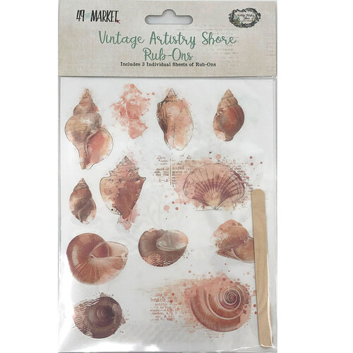 49 and Market - Vintage Artistry Shore Collection - Rub-Ons