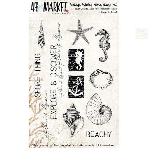 49 and Market - Vintage Artistry Shore Collection - Clear Photopolymer Stamps