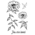 49 and Market - Clear Acrylic Stamps - Valerie's You Are Loved
