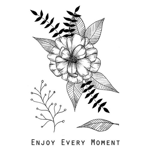 49 and Market - Clear Acrylic Stamps - Valerie's Enjoy Every Moment