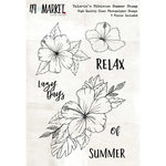 49 and Market - Clear Acrylic Stamps - Valerie's Hibiscus Summer