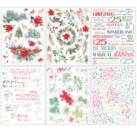 49 and Market - Vintage Artistry Peace and Joy Collection - Rub-On Transfers