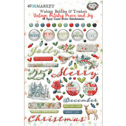 49 and Market - Vintage Artistry Peace and Joy Collection - Wishing Bubbles and Trinkets
