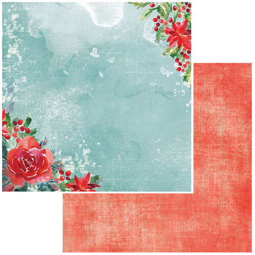 49 and Market - Vintage Artistry Peace and Joy Collection - 12 x 12 Double Sided Paper - Wishes