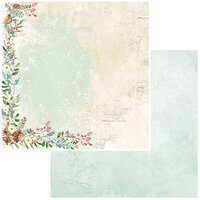49 and Market - Vintage Artistry Peace and Joy Collection - 12 x 12 Double Sided Paper - Yuletide