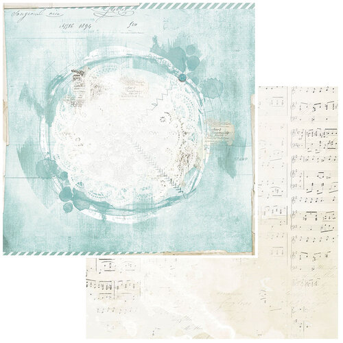 49 and Market - Vintage Artistry Peace and Joy Collection - 12 x 12 Double Sided Paper - North Pole