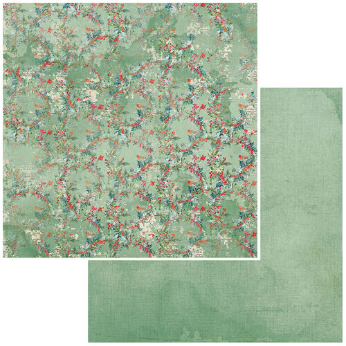 49 and Market - Vintage Artistry Peace and Joy Collection - 12 x 12 Double Sided Paper - Holly