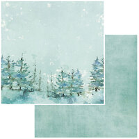49 and Market - Vintage Artistry Peace and Joy Collection - 12 x 12 Double Sided Paper - Treetops